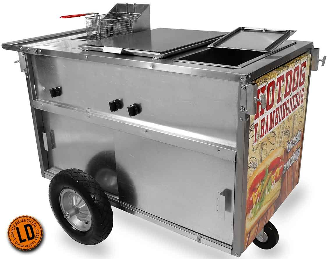 Carritos de hot dogs desde 5 250 lapicero digital for Carritos con ruedas para cocina