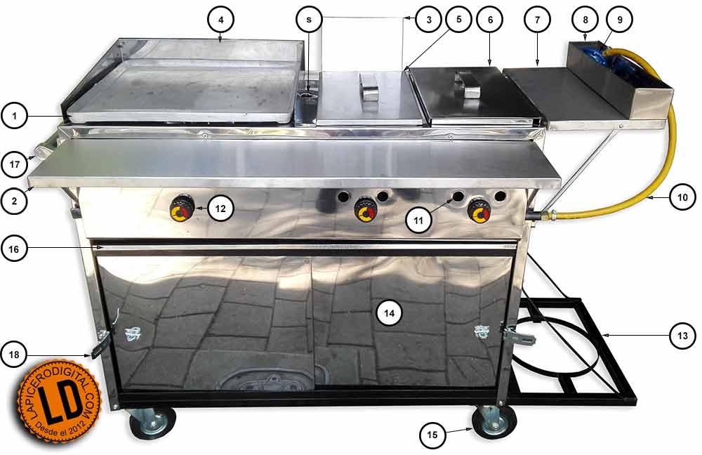 Carro de perros y hamburguesas $480.000 en Lapicero Digital