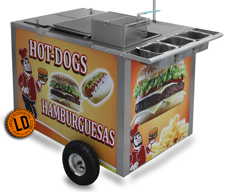 Carritos de hot dogs desde 5 250 lapicero digital for Carritos con ruedas para cocina