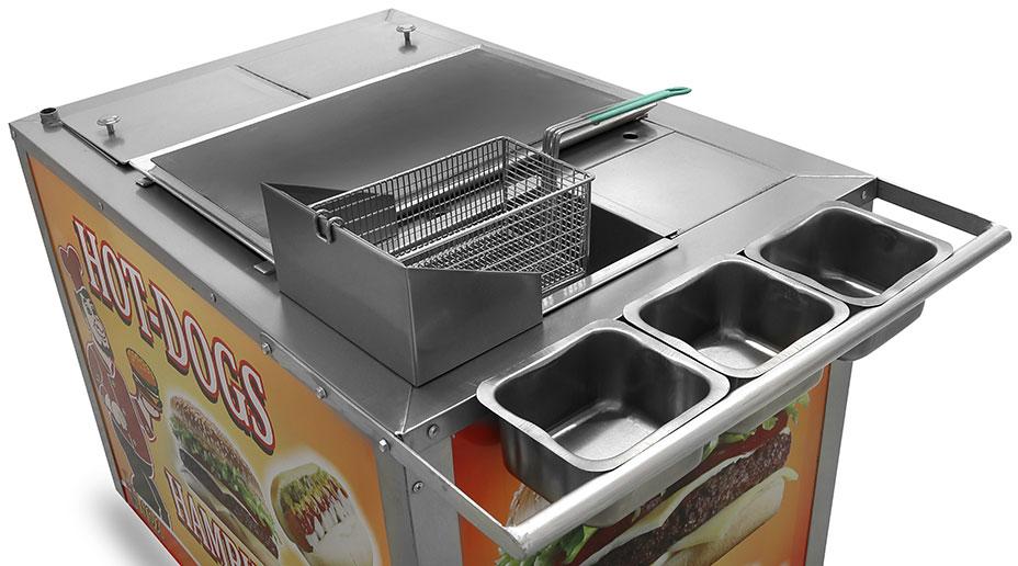 cubierta de nuestros carritos para perros calientes