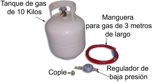Componentes de gas para carritos de comida