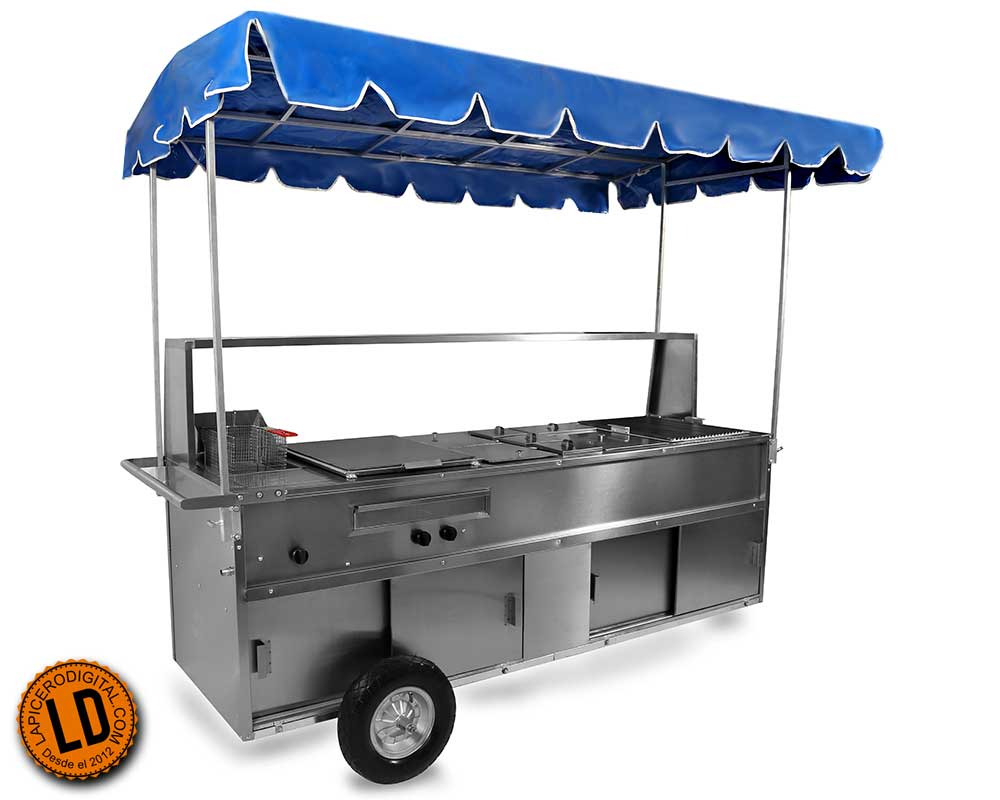 Carrito de hot dog Industrial modelo HE